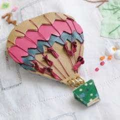 Jacques Hot Air Balloon Brooch