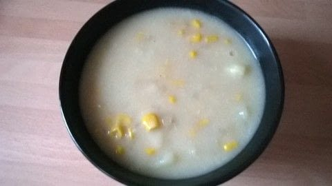 Corn & Potato Chowder .  Free tutorial with pictures on how to cook a potato soup in under 40 minutes by cooking with oil, onion, and chicken stock. Recipe posted by Super Madcow.  in the Recipes section Difficulty: Easy. Cost: Cheap. Steps: 7
