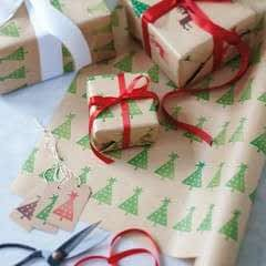 DIY Wrapping Paper And Labels