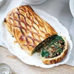 Mushroom, Spinach, Pine Nut And Blue Cheese Wellington