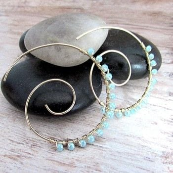 Upgrade your hoops with this easy tutorial. .  Free tutorial with pictures on how to make a hoop earring in under 60 minutes by wireworking with gauge, gauge, and crystals. How To posted by Shelly O.  in the Jewelry section Difficulty: Simple. Cost: 3/5. Steps: 8