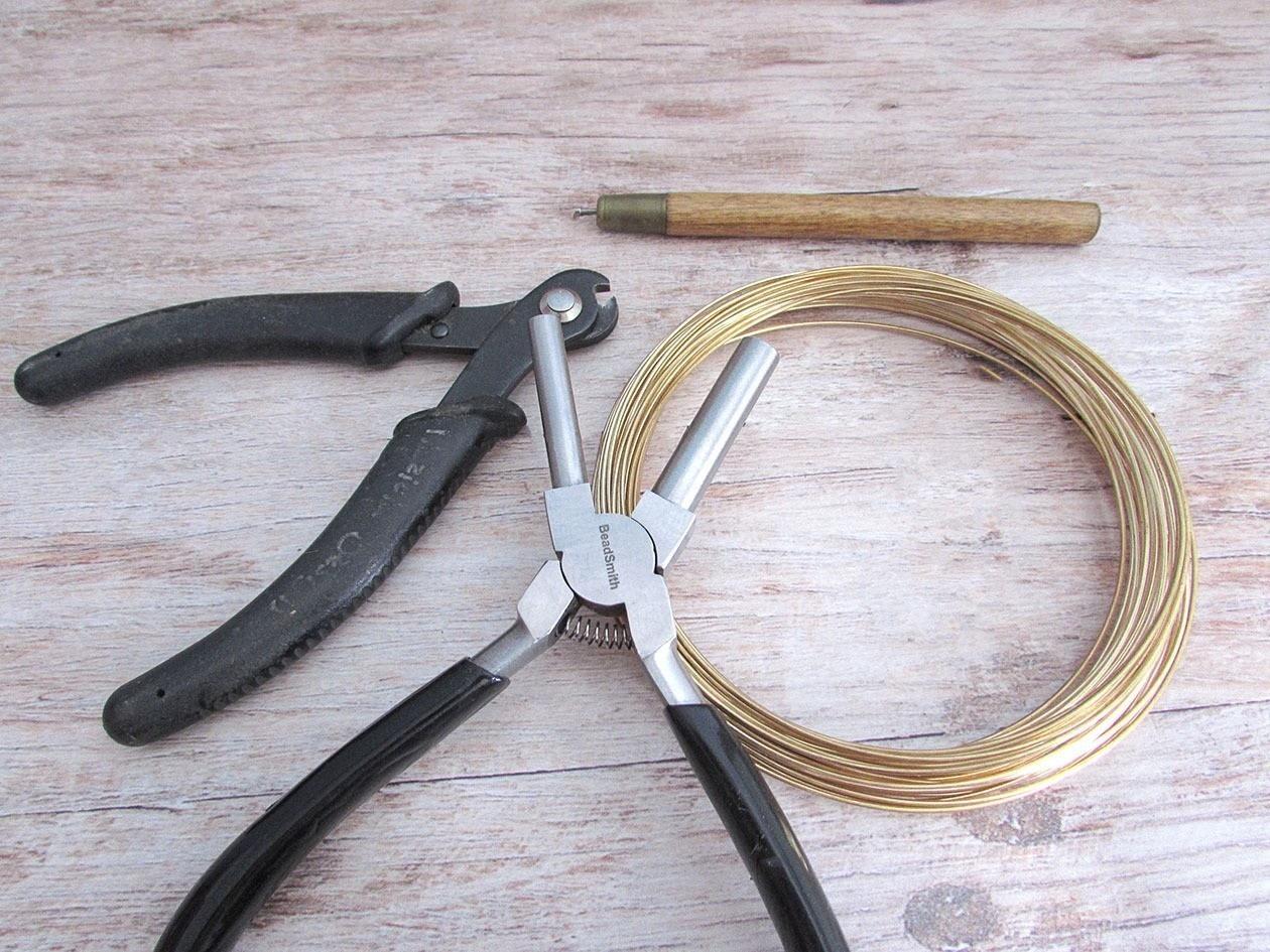 Embellished Wire Spiral Hoop Earrings · How To Make A Hoop Earring ...