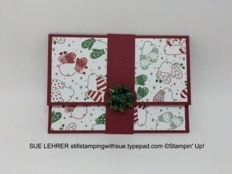 Don't Give Boring Gift Card Holders .  Free tutorial with pictures on how to make a greetings card in under 30 minutes by papercrafting with rubber stamp, cardstock, and ink pads. How To posted by Susan L.  in the Papercraft section Difficulty: Simple. Cost: 3/5. Steps: 1