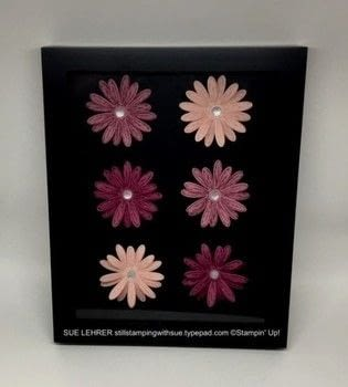 "Everything's Coming Up Daisies .  Free tutorial with pictures on how to make a frame / photo holder in under 60 minutes by papercrafting with 8"" x 10"" black frame, ink pads, and cardstock. How To posted by Susan L.  in the Papercraft section Difficulty: Simple. Cost: 3/5. Steps: 1"