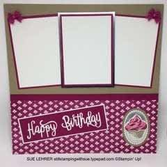 Happy Birthday Cupcake Scrapbook Page