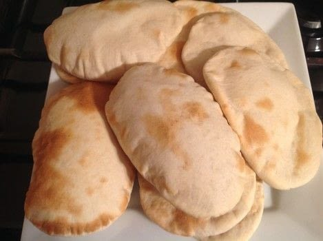 .  Free tutorial with pictures on how to bake pita bread in under 30 minutes by baking with bread flour, salt, and yeast. Recipe posted by Super Madcow.  in the Recipes section Difficulty: Easy. Cost: Cheap. Steps: 8