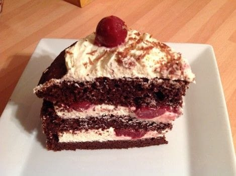 .  Free tutorial with pictures on how to bake a Black Forest Cake in under 30 minutes by cooking and baking with chocolate cake, cherries, and gelatine. Recipe posted by Super Madcow.  in the Recipes section Difficulty: Easy. Cost: Cheap. Steps: 8