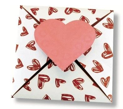 Origami Love Notes .  Free tutorial with pictures on how to make an envelope in under 15 minutes by papercrafting and paper folding with paper, paper, and scissors. Inspired by valentine's day. How To posted by Tuttle Publishing.  in the Papercraft section Difficulty: Simple. Cost: Cheap. Steps: 5