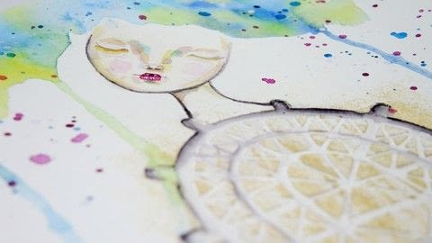 Playing with colourful watercolour paints .  Free tutorial with pictures on how to paint a piece of watercolor art in under 120 minutes using stencil, modeling paste, and watercolours. How To posted by Iris F.  in the Art section Difficulty: 3/5. Cost: Cheap. Steps: 9