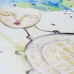 Watercolour & Modeling Paste Painting