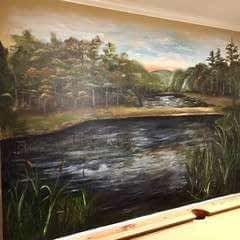 Rustic Pond Mural