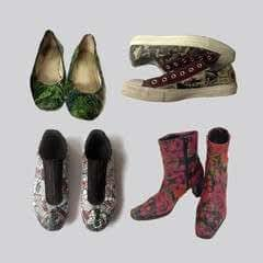 Upcycle Your Shoes With Decoupage