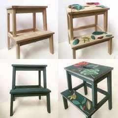 Transform A Bekvam Stool With Decoupage