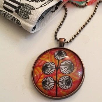 Learn the basics of decoupage under glass with this easy small project. .  Free tutorial with pictures on how to make a glass pendant in under 120 minutes by decoupaging with paper napkins, decoupage glue, and diamond glaze. How To posted by Gabriela Szulman.  in the Jewelry section Difficulty: Simple. Cost: 3/5. Steps: 8