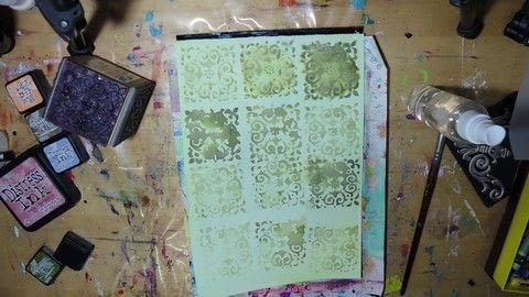 Fun and simple effect .  Free tutorial with pictures on how to paint a piece of watercolor art in under 30 minutes by stamping with crayons, distressing ink, and stamp. How To posted by Iris F.  in the Art section Difficulty: Easy. Cost: Cheap. Steps: 8