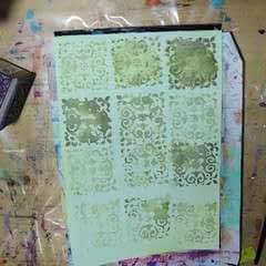 Watercolour Effect Stamping Technique