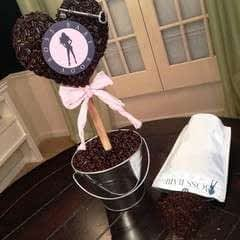 Coffee Bean Heart Topiary