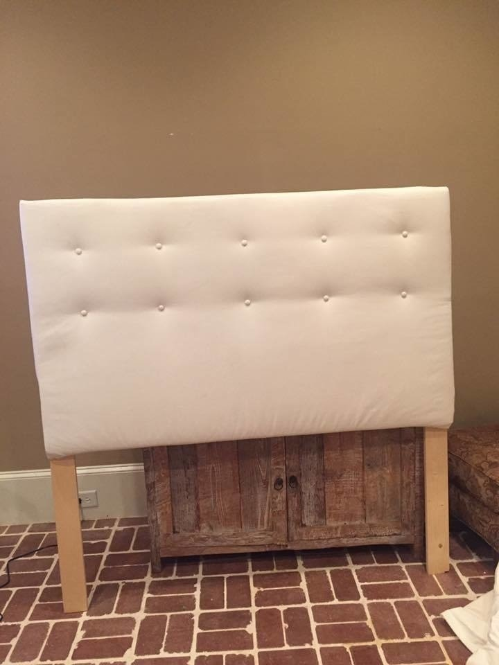 Easy Tufted Headboard · How To Make A Bed Headboard · Home ...
