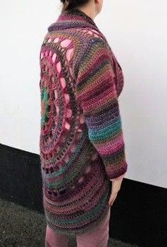 Crocheted circle jacket .  Stitch a knit or crochet sweaters by crocheting with james c. brett monsoon. Creation posted by js-m crafts.  in the Yarncraft section Difficulty: 3/5. Cost: 3/5.