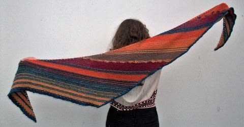 Shawl .  Knit Or Crochet a stripy scarf by knitting Creation posted by js-m crafts.  in the Yarncraft section Difficulty: 4/5. Cost: 3/5.