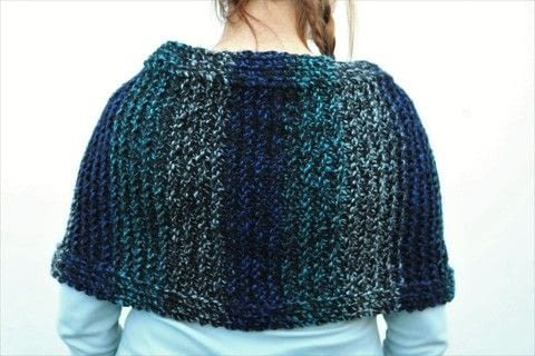 Chunky poncho/shrug .  Make a poncho by knitting Creation posted by js-m crafts.  in the Yarncraft section Difficulty: Easy. Cost: 3/5.