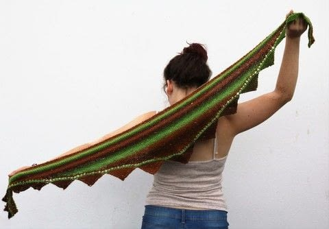 Shawlette .  Knit Or Crochet a stripy scarf by knitting Creation posted by js-m crafts.  in the Yarncraft section Difficulty: 3/5. Cost: 3/5.