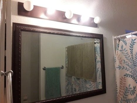 Mirror, mirror, on the wall.. you need a make over! .  Make a wall mirror by spraypainting with spray paint, sealant spray, and old framed mirror. Inspired by bathroom. Creation posted by gypsie_jay.  in the Home + DIY section Difficulty: Easy. Cost: Cheap.