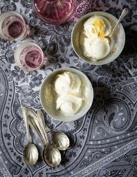 The Legendary Cuisine of Persia .  Free tutorial with pictures on how to make ice cream in under 60 minutes by cooking with milk, sugar, and rose water. Recipe posted by Grub Street Publishing.  in the Recipes section Difficulty: Simple. Cost: Cheap. Steps: 4