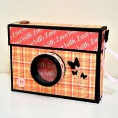 Diy Crafts   How To Make A Camera Box   Mini Album