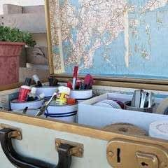 Freshening Up The Interior Of The Vintage Suitcase