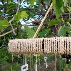 Turning A Tire Rim Into A Wind Chime