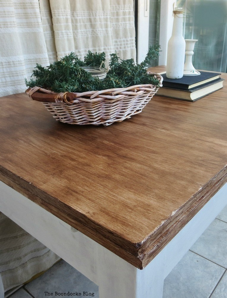 Yes, You Can Paint Your Laminate Furniture To Look Like Wood! . Free  Tutorial