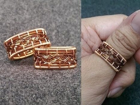 These rings are made in series inspired by knot and celtic style .  Free tutorial with pictures on how to make a wire wrapped ring in under 17 minutes by jewelrymaking, knotting, and wireworking with copper wire. How To posted by Lan Anh Handmade.  in the Jewelry section Difficulty: 3/5. Cost: Cheap. Steps: 1