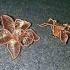 Cymbidium Orchid Copper Flower 3D Pendant