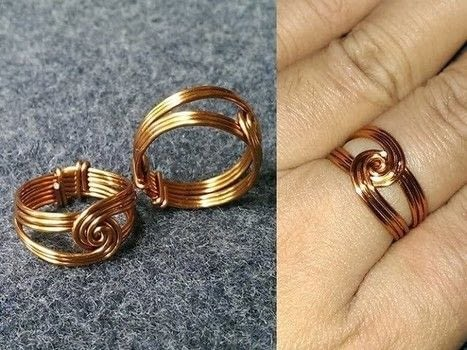 Make a twisted round ring with copper wire! .  Free tutorial with pictures on how to make a wire wrapped ring in under 6 minutes by jewelrymaking, knotting, and wireworking with copper wire. How To posted by Lan Anh Handmade.  in the Jewelry section Difficulty: Simple. Cost: No cost. Steps: 1