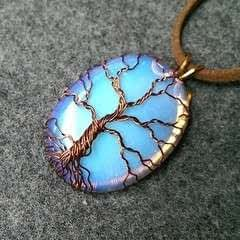 Pendant Tree of Life with big stone no holes