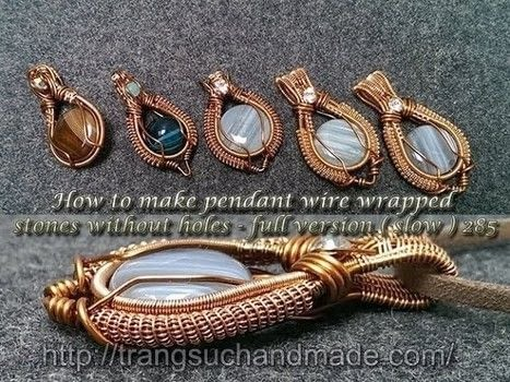 Wire a wire wrapped pendant! .  Free tutorial with pictures on how to make a pendant necklace in under 33 minutes by jewelrymaking and wireworking with agate and copper wire. How To posted by Lan Anh Handmade.  in the Jewelry section Difficulty: 5/5. Cost: No cost. Steps: 1