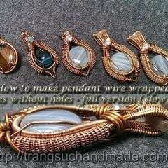 Pendant Wire Wrapped Stones Without Holes