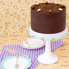 Gluten Free Toasted Almond Chocolate Cake
