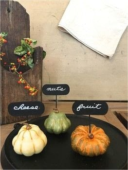 Pep up your cheeseboard .  Free tutorial with pictures on how to make food & drink in under 45 minutes using chalk, gourd, and dowels. Inspired by parties and party food. Recipe posted by Jennifer P.  in the Other section Difficulty: Simple. Cost: Cheap. Steps: 4