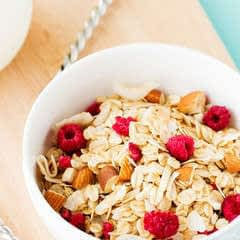 Almond, Coconut And Raspberry Muesli