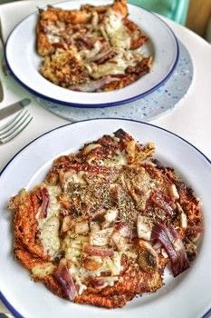Venezuelan inspired cornmeal pancakes with cheese, red onion and mushrooms! .  Free tutorial with pictures on how to cook a pancake in under 15 minutes by cooking with cheese, red onion, and mushrooms. Recipe posted by Cat Morley.  in the Recipes section Difficulty: Simple. Cost: Cheap. Steps: 9