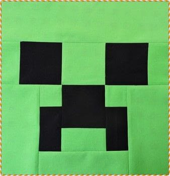 Can a Creeper be adorable? If it's in a quilt, it can! :) .  Free tutorial with pictures on how to make a patchwork quilt in under 30 minutes by sewing and patchworking with black fabric, sewing machine, and green fabric. Inspired by minecraft. How To posted by Kelli Fannin Quilt Designs.  in the Sewing section Difficulty: Easy. Cost: Cheap. Steps: 5