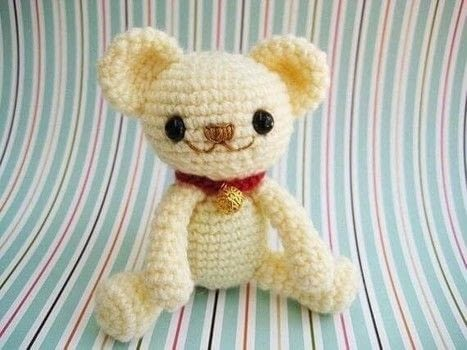 How to crochet a Milo Teddy Bear .  Free tutorial with pictures on how to make a bear plushie in 3 steps by crocheting and amigurumi with acrylic yarn, eyes, and stuffing. How To posted by jennyandteddy.  in the Yarncraft section Difficulty: 3/5. Cost: Cheap.