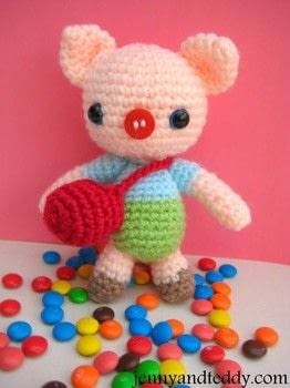 Crochet Willy Baby Piggy Amigurumi .  Free tutorial with pictures on how to make a pig plushie in 3 steps by crocheting and amigurumi with acrylic yarn, eyes, and stuffing. How To posted by jennyandteddy.  in the Yarncraft section Difficulty: Easy. Cost: Cheap.