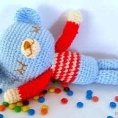 Mr. Teddy Sleepy Bear Amigurumi