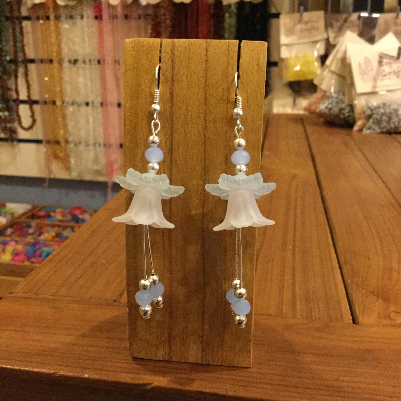 Lucite Bell Flower Earrings 183 How To Make A Dangle Earring