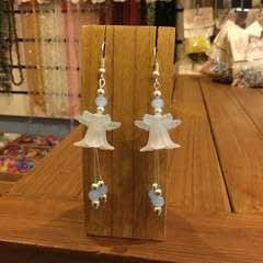 Lucite Bell Flower Earrings