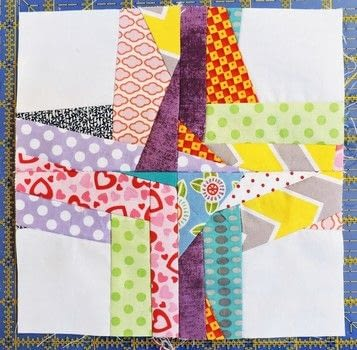 Something beautiful from those bits of scraps that wind up in the floor, or the bin, or are too small for anything else! .  Free tutorial with pictures on how to make a patchwork quilt in under 30 minutes by sewing and patchworking with colorful scraps of fabric, white background fabric, and rotary cutter. How To posted by Kelli Fannin Quilt Designs.  in the Sewing section Difficulty: Easy. Cost: Absolutley free. Steps: 12