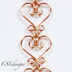 Celtic wirework heart